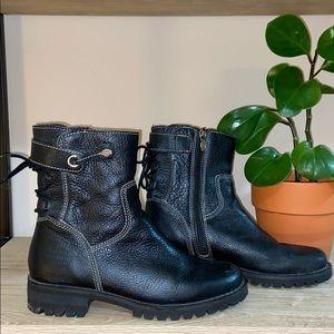 Harley Davidson Zippered Leather Combat Boots Sz 6
